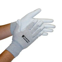 Inspection Gloves, ESD Nylon, Palm Coated, S-2XL by Cleanroom World