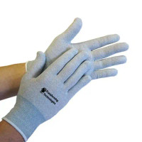 Inspection Gloves, Dissipative Nylon, ESD, Uncoated, Seamless, Washable, XS-2XL by Cleanroom World
