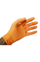 Lab Gloves, Nitrile Exam Gloves, Powder Free, Boxed, Orange, S-2XL by Cleanroom World