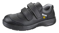 ESD Cleanroom Shoes with Double Velcro Closure, Black by Cleanroom World