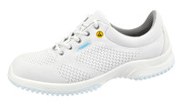Knitted Textile ESD Cleanroom Shoes, White by Cleanroom World