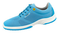 Knitted Textile ESD Cleanroom Shoes, Blue by Cleanroom World