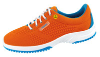 Knitted Textile ESD Cleanroom Shoes, Orange by Cleanroom World