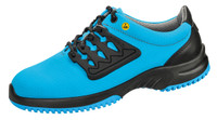 Functional Leather ESD Cleanroom Shoes, Blue/Black by Cleanroom World