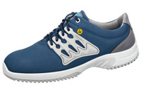 Functional Leather ESD Cleanroom Shoes, Blue/Gray by Cleanroom World