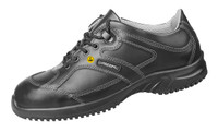Black Reflective Material ESD Cleanroom Shoes by Cleanroom World