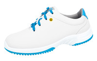 White/Blue Microfiber Washable ESD Cleanroom Shoes by Cleanroom World