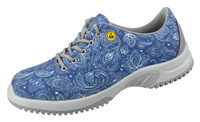 Knitted Textile ESD Cleanroom Shoes, Blue Paisley by Cleanroom World