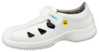 White Breathable Microfiber Washable ESD Cleanroom Shoes by Cleanroom World
