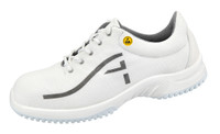 Breathable Textile ESD Cleanroom Shoes, White by Cleanroom World