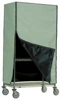 ESD Cart Covers,  Green Static Dissipative, Conductive Black Inside, Zippers by Cleanroom World