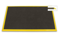 Bubble Down Anti Fatigue Mats with Yellow Trim by Cleanroom World