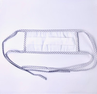 Reusable Face Masks; 4 Ties, Double Ply, White By Cleanroom World