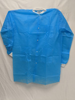 Polypropylene Disposable Lab Coats, Blue, 2XL by Cleanroom World