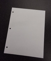"Cleanroom Paper, 8.5"" x 11"", 3 Hole Punched, Blue by Cleanroom World"