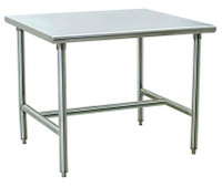 Electropolished Tables, H-Frame, 24x24x35H by Cleanroom World