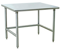 Electropolished Tables, C-Frame, 24x36x35H by Cleanroom World
