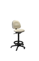 Harsh Environment Chairs, ISO 5 Class 100, GK-HC300 Series, 4 Height Ranges, 2 Colors, Back Tilt, Contoured Seat, Vinyl, Dual Wheel Casters By Cleanroom World