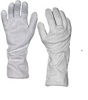 "Heat Resistant Polyester Gloves, 14"" Long, Small by Cleanroom World"