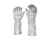 "Heat Resistant Gloves, Nomex Material, ESD Static Safe, 300 C, 16""Long, S-XL By Cleanroom World"