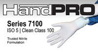 Nitrile Cleanroom Gloves, Ambidextrous, XS-XL By Cleanroom World
