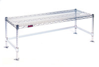"""Chrome Gowning Benches, Economical, Wire Top, 14""""W By Cleanroom World"""