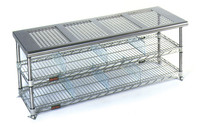 """Perforated Top Gowning Benches with Shoe Storage, 18""""W by Cleanroom World"""