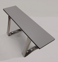 """Laminate Top Gowning Benches, Trapezoid Pedestal, 9½""""W  By Cleanroom World"""
