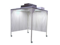 Portable Softwall Cleanrooms ISO 5, 4'x4'x8'H by Cleanroom World