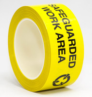 ESD Tape, ESD Yellow Caution, Printed, Vinyl, Acrylic Adhesive, Overlaminated by Cleanroom World