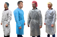 Isolation Gowns, Polypropylene, 100/case By Cleanroom World