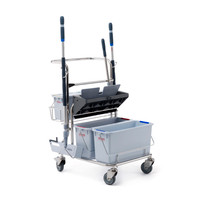 Double Bucket Trolley System, Electropolished Stainless Steel By Cleanroom World