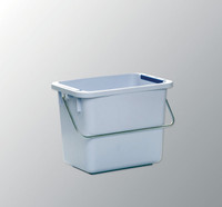 6 Gallon Bucket, Polypropylene, Color Coded Clips, Autoclavable By Cleanroom World