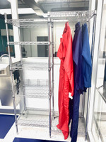Chrome Gowning Rack By Cleanroom World