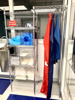 Stainless Steel Gowning Rack + Acrylic Dispensers By Cleanroom World