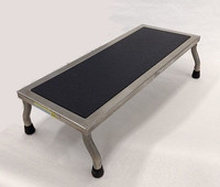 """Step Stools, Stainless Steel, 12""""W x 8""""H x MULTIPLE LENGTHS by Cleanroom World"""