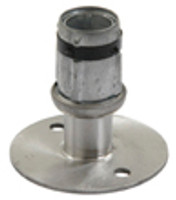 Flanged Bullet Feet, Foot Plated, Bolt to Floor, Replacement Part For Gowning Benches, Type 304 Stainless Steel By Cleanroom World