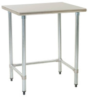 Stainless Steel Table; Eagle Table, Spec-Master 14/304 Stainless Steel Top & Base By Cleanroom World