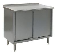Stainless Steel Lab Tables, Upturn Stainless Steel Top, Sliding Doors, Open Front Base by Cleanroom World