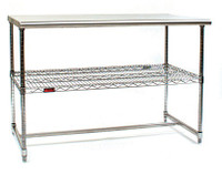 Cleanroom Tables, Stainless Steel Top, H Frame by Cleanroom World