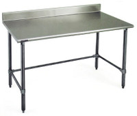 Stainless Steel Prep Table, Eagle Table, Deluxe, Galvanized by Cleanroom World