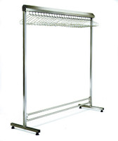 Stainless Steel Gowning Racks, Free Standing By Cleanroom World