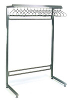 Electropolished Gowning Racks, Cantilevered, 16 Slots By Cleanroom World