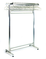 Electropolished Gowning Racks, Double Sided by Cleanroom World