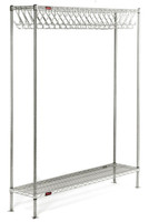 Electropolished Garment Racks, Free Standing, 72 Slots by Cleanroom World