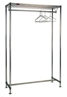 Gowning Racks, Hanger Tube, Stainless Steel, Free Standing By Cleanroom World