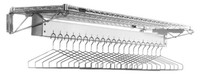 Cleanroom Garment Racks, Chrome, Wall Mount, Multiple Sizes By Cleanroom World
