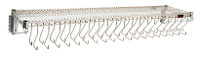 Cleanroom Garment Racks, Chrome with Hooks By Cleanroom World