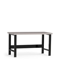 "Work Bench, 60""W x 30""D x 34""H, Dissipative Steel Top, Open Leg, Stringer By Cleanroom World"
