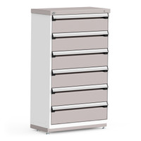 "Stationary Cabinet, 36""W x 18""D x 60""H, Stainless Steel Cover, Heavy Duty 16 Gauge Construction By Cleanroom World"